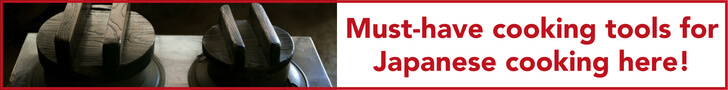 Must-have cooking tools for Japanese cooking here!