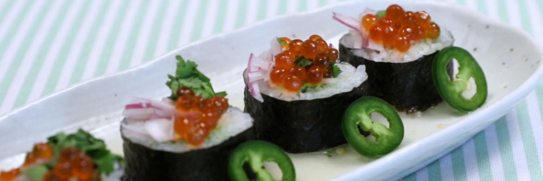 Ceviche Sushi Roll