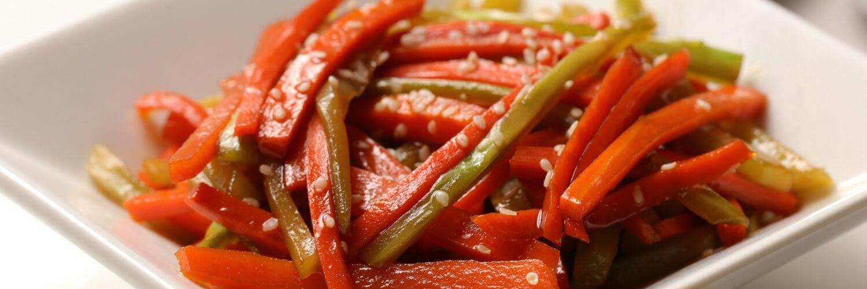 Colorful Carrot and Broccoli Kinpira