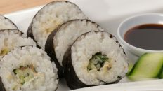 Cucumber Sushi Rolls with Shiso & Miso