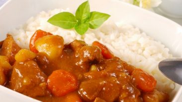 Curry Rice with Spoon