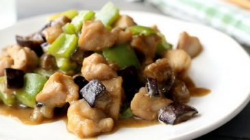 Eggplant and Chicken Miso Stir-fry