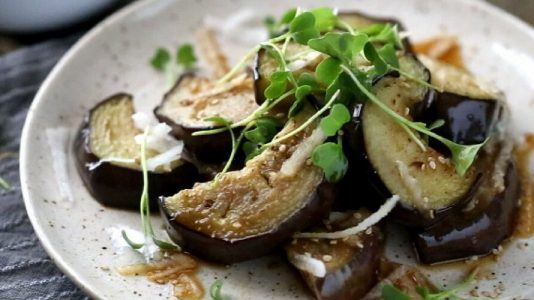 Fried Eggplant Salad