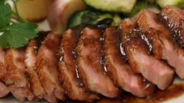 Grilled Duck with Teriyaki Sauce
