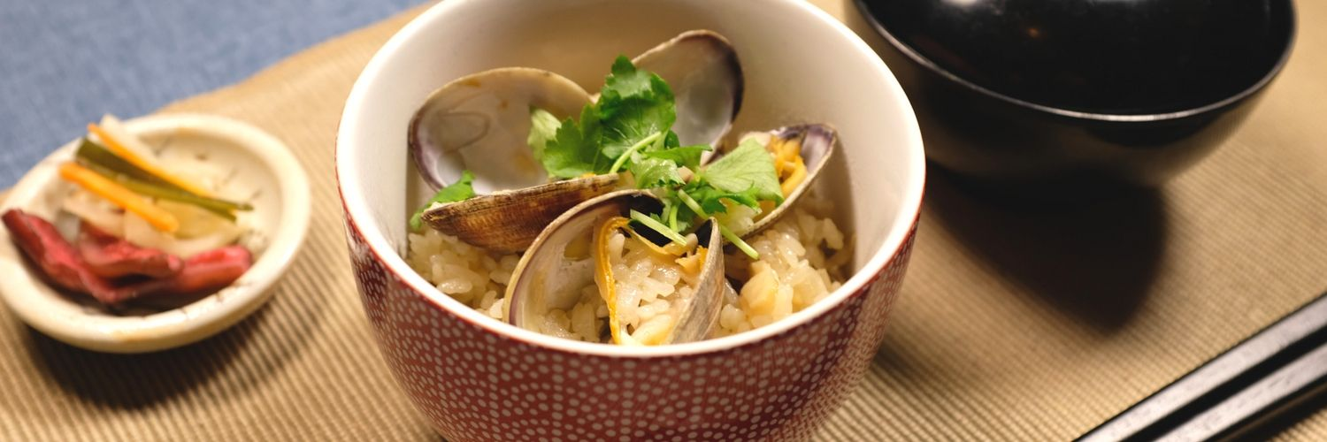 Japanese-Mixed-Rice-with-Clams
