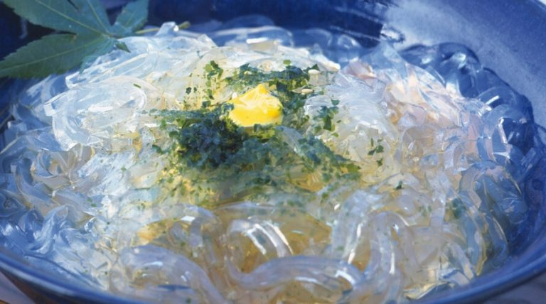 Japanese jelly noodles tokoroten