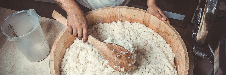 Making sushi rice