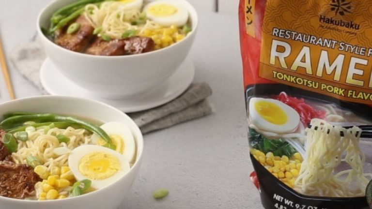 Marinated BBQ Pork Ramen with Hakubaku Fresh Ramen Kit