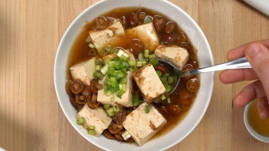 Nameko Mushroom and Tofu