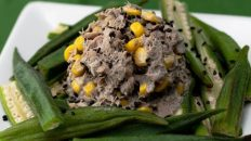 Okura & Black Sesame Salad