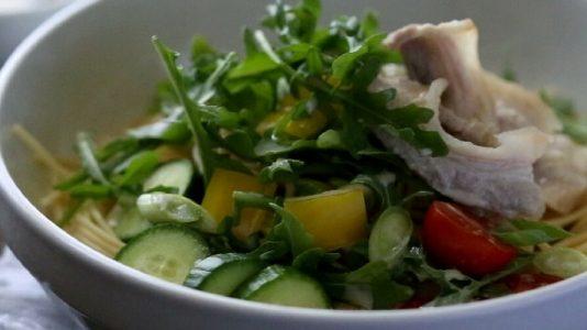 Pork Shabu-Shabu Pasta Salad
