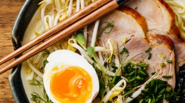 Ramen with egg and pork