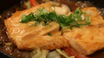 Salmon & Vegetables with Miso Butter