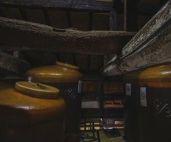 soy sauce barrel in the kura