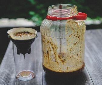 fermentation jar and filtering