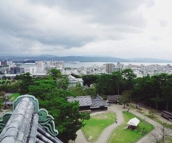 Overlooking Lake Shinjiko from Matsue castle