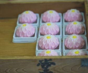 handmade wagashi up close