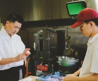 men making wagashi