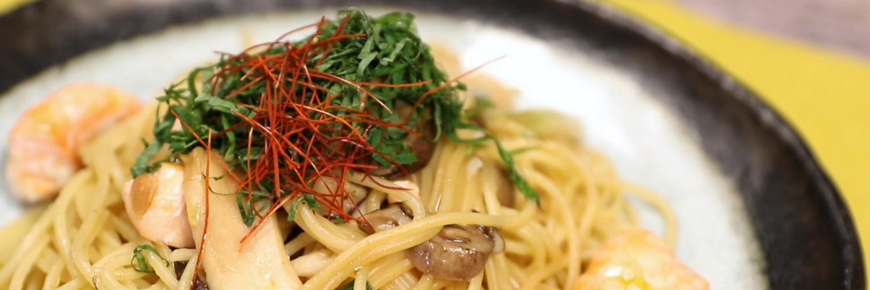 Shio-Koji Salmon and Mushroom Pasta