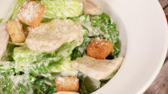 Soy Milk Chicken Caesar Salad