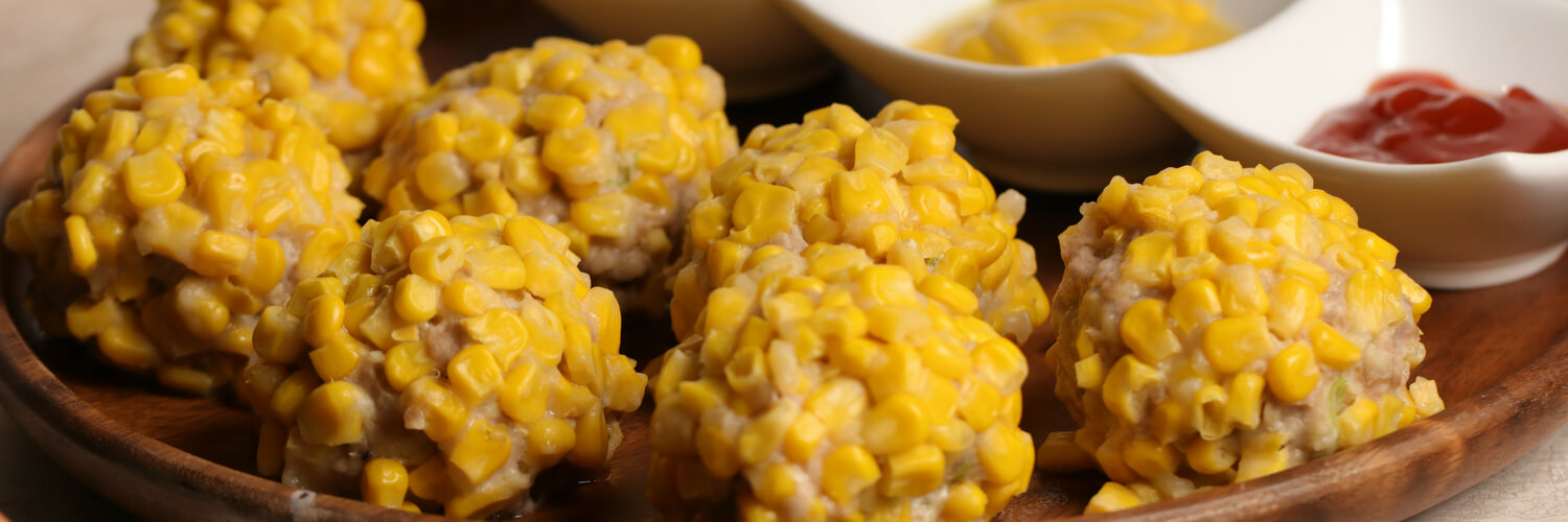 Steamed Pork and Corn Balls