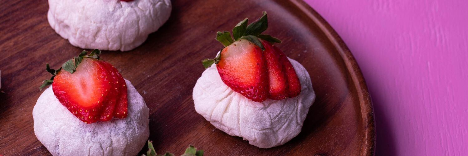 Strawberry Cream Mochi