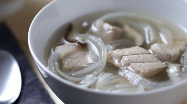 Tuna and Onion Dashi Soup