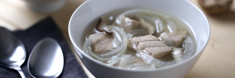 Tuna and Onion Dashi Soup