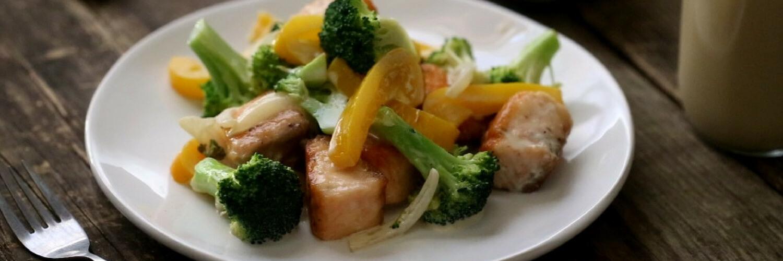 Warm Broccoli and Salmon Salad