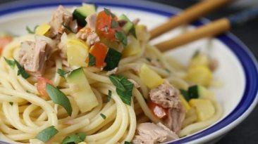 Zucchini and Tuna Pasta