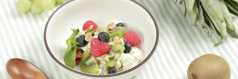 mashed tofu fruits salad