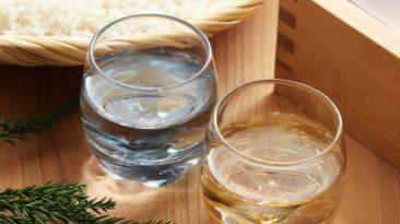 masu sake and ochoko