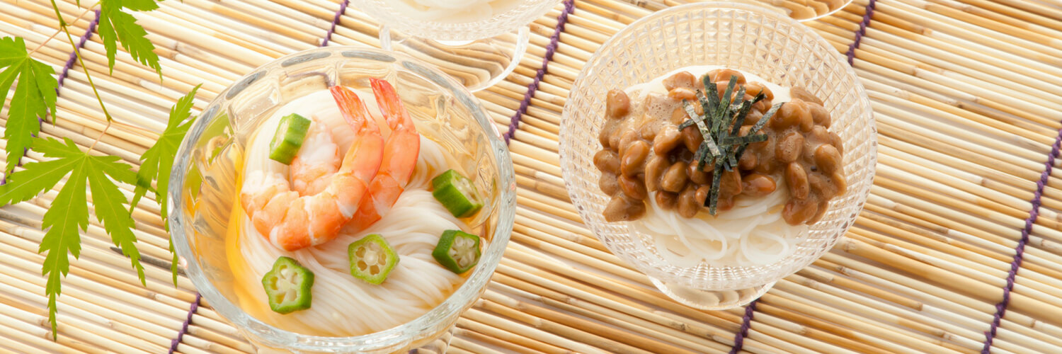 natto in somen and nori
