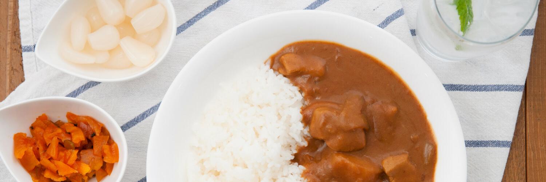 rakkyo and fukujinzuke with curry