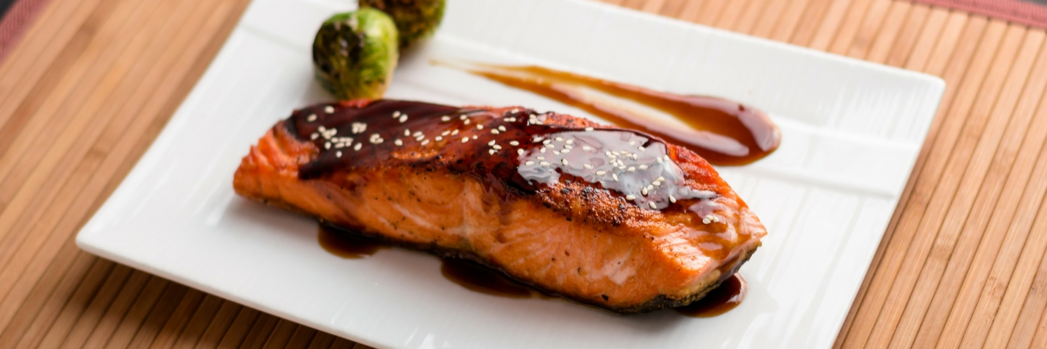 teriyaki salmon with mirin from japanese kitchen