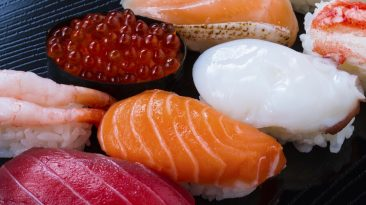 variety of sushi menu