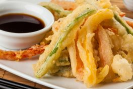 vegetable tempura with sauce